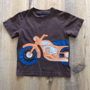 Mini Boden Motorcycle Applique Tee Shirt